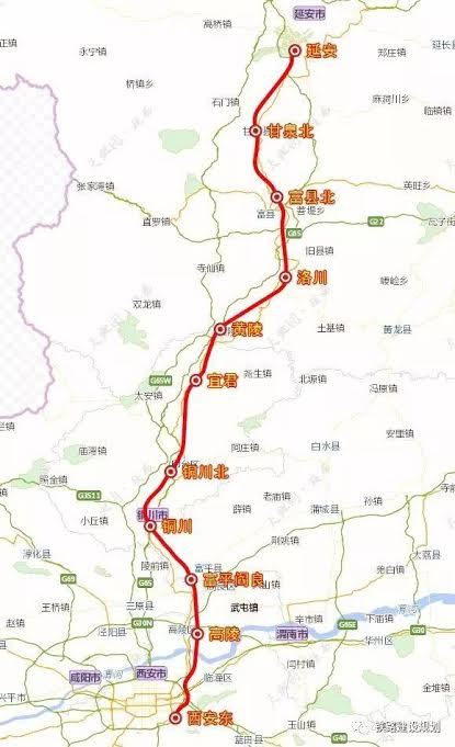 Xi'an to Yam'an Railway Route2.jpg